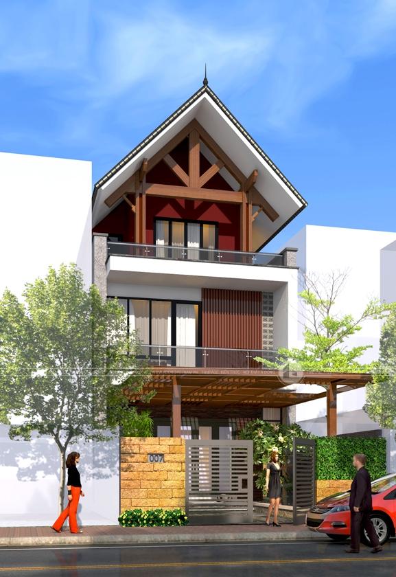 Mặt bằng mẫu nhà phố Á Đông
