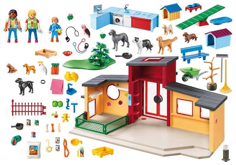 Contenido real de Playmobil® 9275 Hotel de Mascotas