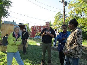 Photo: Baltimore urban farmer Steve Blaes hanging out with friends of Boone Street