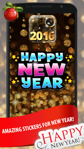 幸せな新年のグリーティングカード