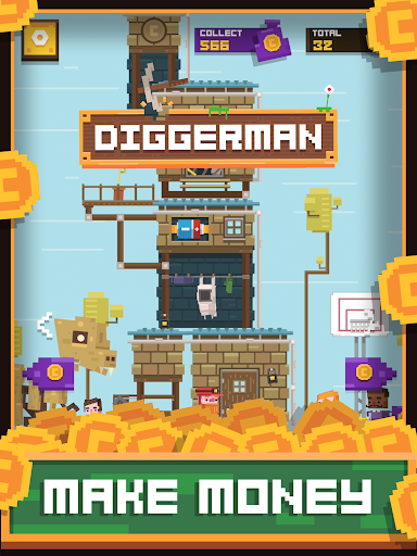 Diggerman - Arcade Gold Mining Simulator game (apk) free download for Android/PC/Windows screenshot