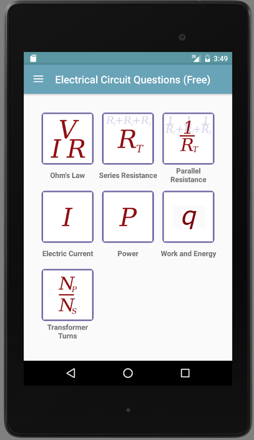 Electricity Questions- screenshot