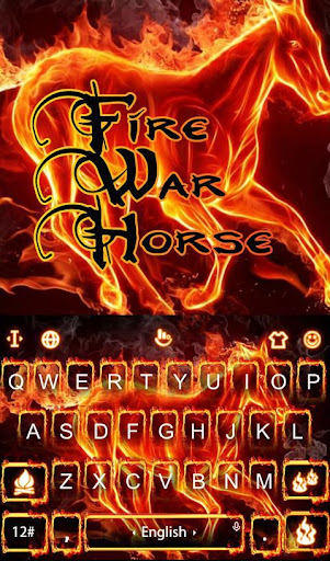 Fire War Horse Keyboard Theme 6.12.23.2018 screenshots 1