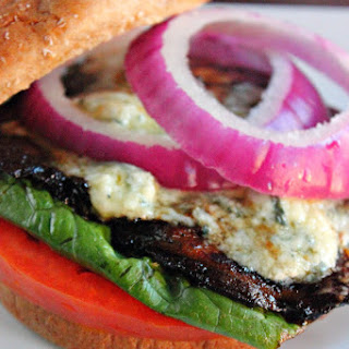 Portabella Mushroom Black and Blue Burger