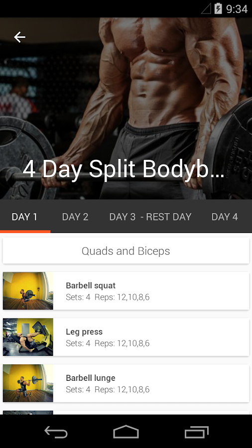 Gym Guide - Fitness assistant- screenshot