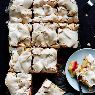 Strawberry Meringue Squares.