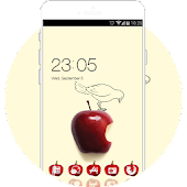 Theme for galaxy j2 ace with red apple screensaver