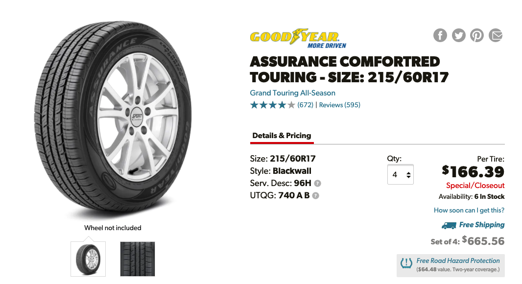 Goodyear Assurance Comforted Touring