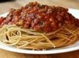 Once done cooking, you can continue making spaghetti for the days supper, or can...