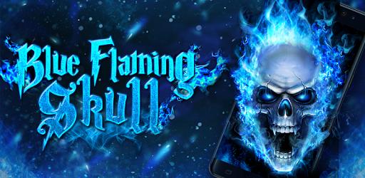 Blue Fire Skull Live Wallpaper Apps On Google Play