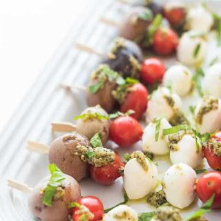 Pesto Potato Caprese Skewers Recipe