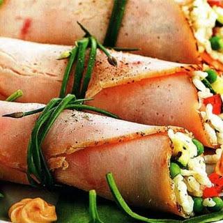 Ham Rolls With Horseradish