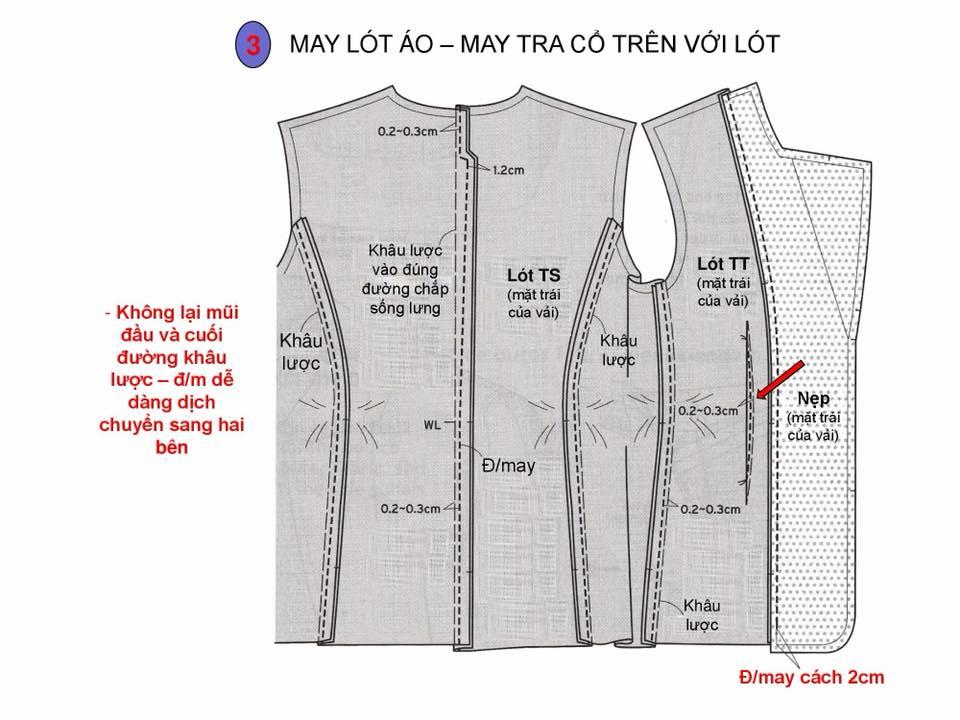 Bảng Size Thông Số Chuẩn Áo VEST NAM-NỮ Và Hướng Dẫn Cách Ráp Áo VEST 16