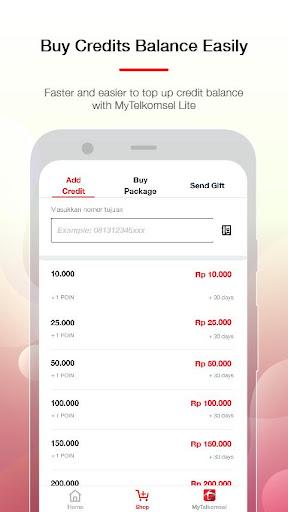 MyTelkomsel Lite – Check Quota & Buy Package screenshot 3