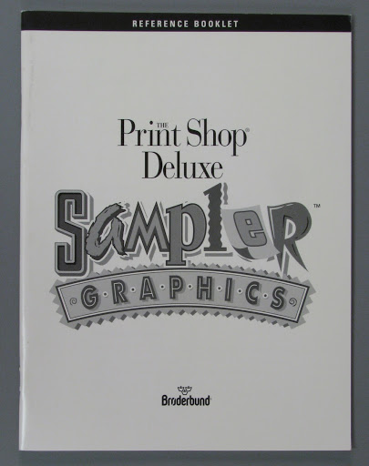 Instruction book:The Print Shop Deluxe: Sampler Graphics - Reference Booklet