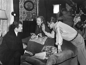"Photo: Robert Walker, Helen Hayes and Leo Mc Carey on the set of ""My Son John"""