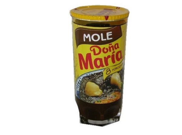 Add the mole mixture to a pan or pot on low heat and simmer...