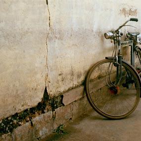 Leaning and Broken by Dhruva Chandramouli - City,  Street & Park  Street Scenes