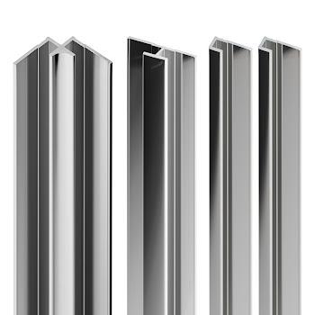 DecoDesign - Zubehör Profilset - Chromoptik (41), Länge 2100 mm