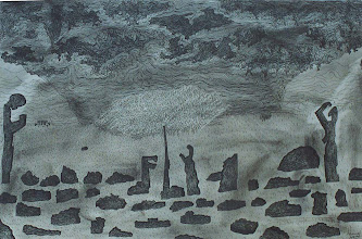 """Photo: Lost In a Lost World14"""" x 22""""2005 - 2007Pen & Ink on paper"""