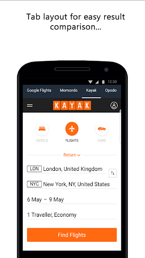 Compare Flight Tickets and Hotels 1.0 screenshots 5