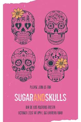 Sugar & Skulls - Postcard item
