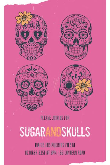 Sugar & Skulls - Postcard Template