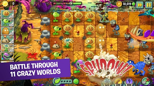 Screenshot 1 Plants vs Zombies 2 Free 7.0.1 APK+DATA MOD