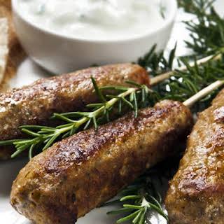 Lamb Kefta Kebabs with Tzatziki.