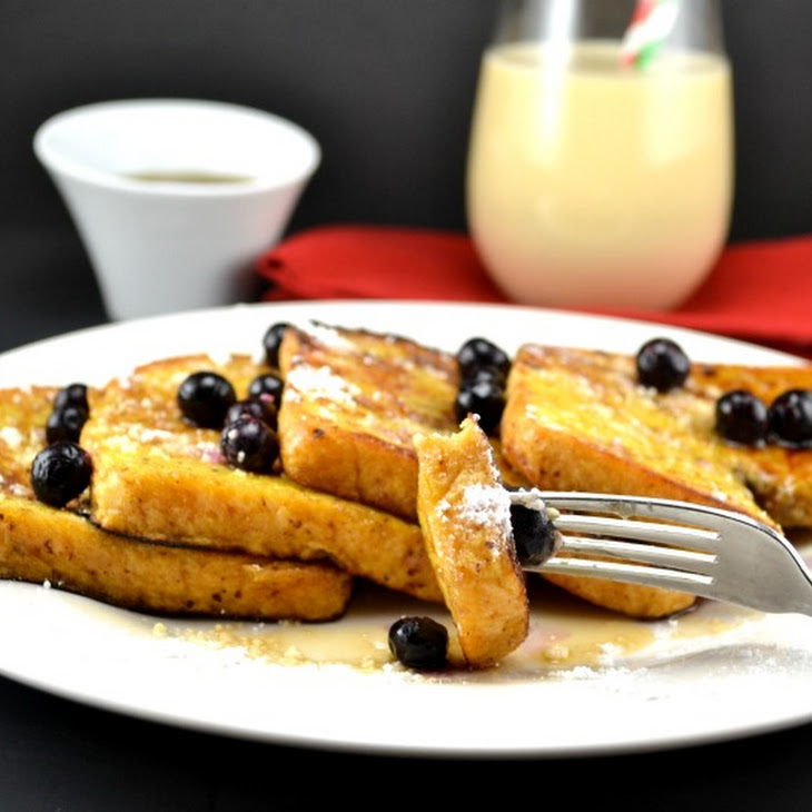Healthy Eggnog French Toast
