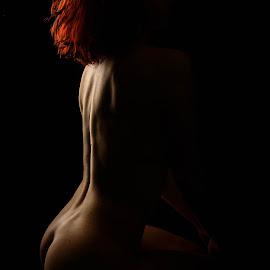 Bodyscape on fire by André Odermatt - Nudes & Boudoir Artistic Nude ( red hair, beauty, bodyscape, topmodel, nude )