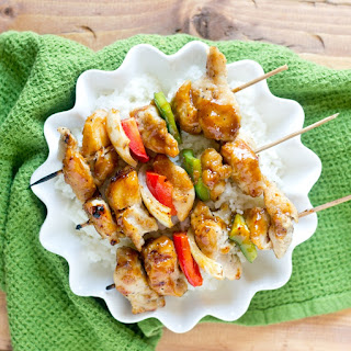 Korean BBQ Chicken Kebabs.