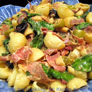 Pasta with Spinach, Prosciutto and Chevre