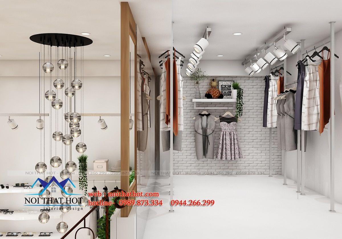thiết kế shop thời trang trẻ trung, độc đáo