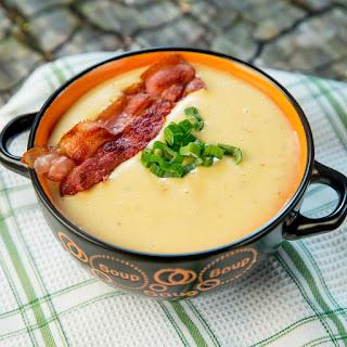 Creamy Potato and Bacon Soup.