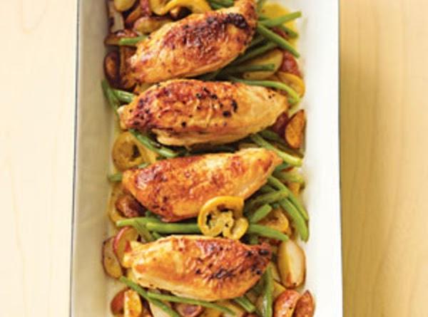 Pan-roasted Chicken With Lemon-garlic Green Beans Recipe