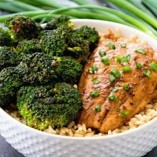 Teriyaki Salmon & Broccoli Bowls.