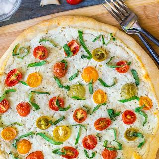 Tomato, Ricotta, and Basil Pizza.
