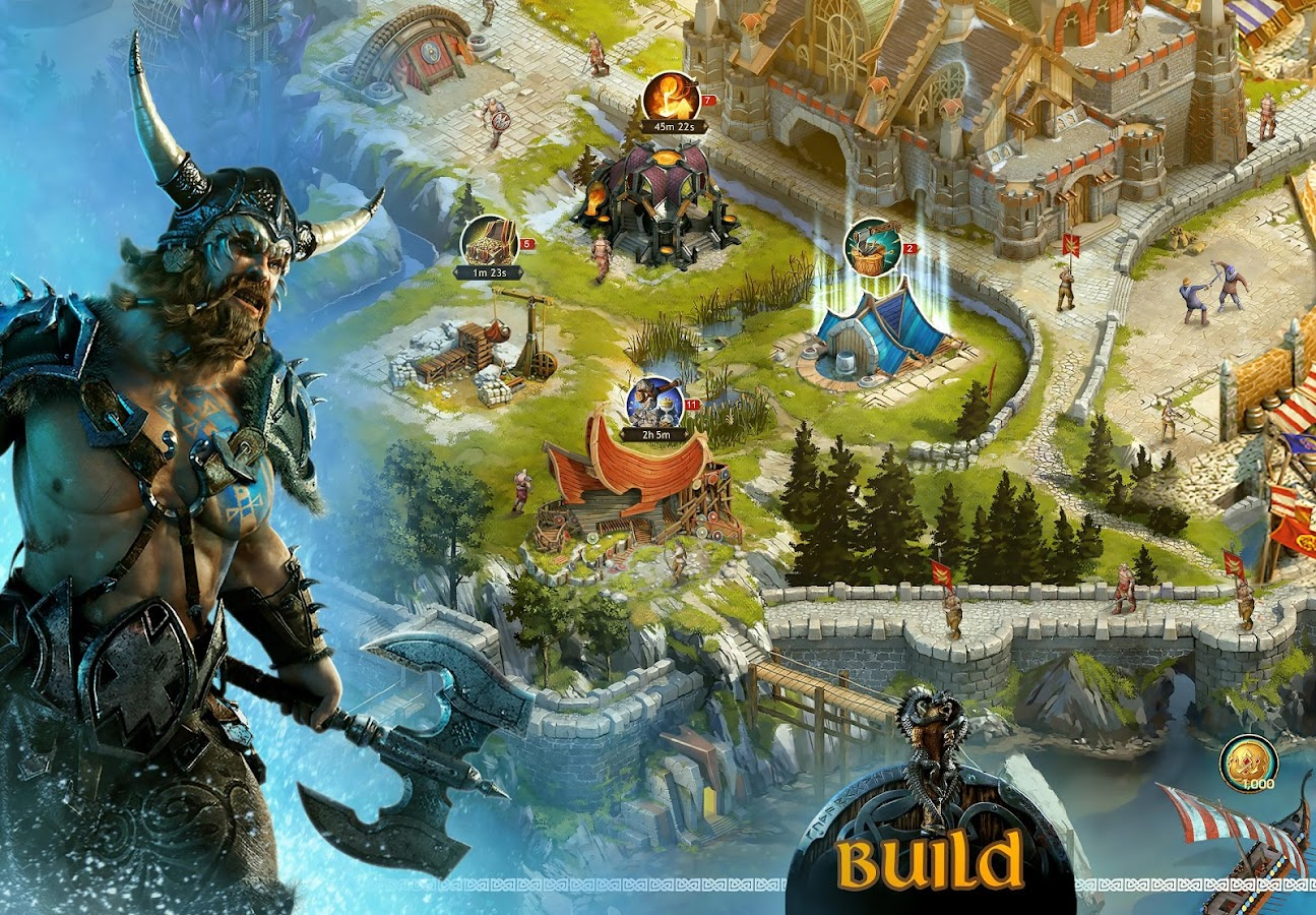 Screenshots of Vikings: War of Clans for iPhone