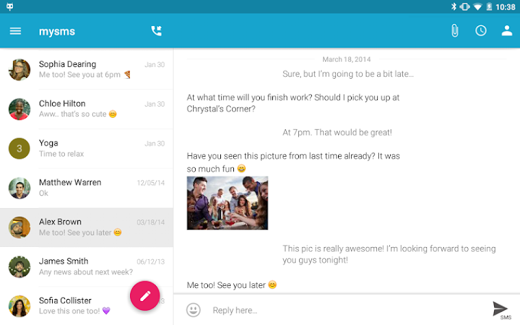 SMS Texting from Tablet & Sync Screenshot