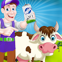 Milk Factory Farm Cooking Game icon