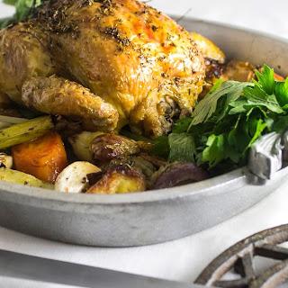 Winner, Winner...Perfect Roasted Chicken Dinner and Homemade Chicken Stock Recipe