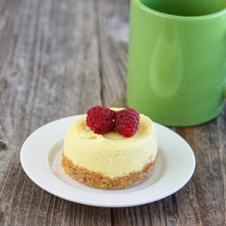 Microwave Cheesecake Mug Cake.