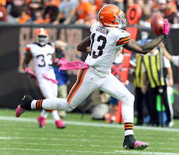 Photo: Josh Gordon pulls in a one-handed catch. (Chuck Crow, The Plain Dealer)