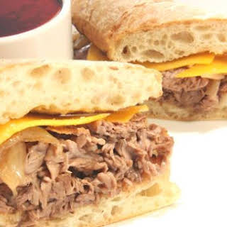 Leftover Roast Beef Dip Sandwiches.