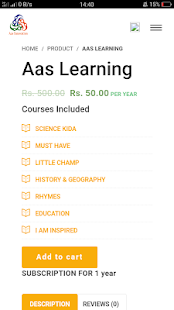 Aas Learning screenshot