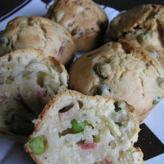 Muffins With Ham And Green Peas