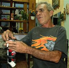 Photo: sergio morales, famous cuban mechanic who maintains vintage harley davidson motorcycles. Tracey Eaton photo.