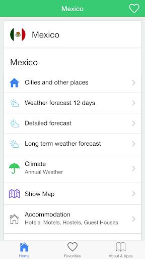 墨西哥天氣,旅行