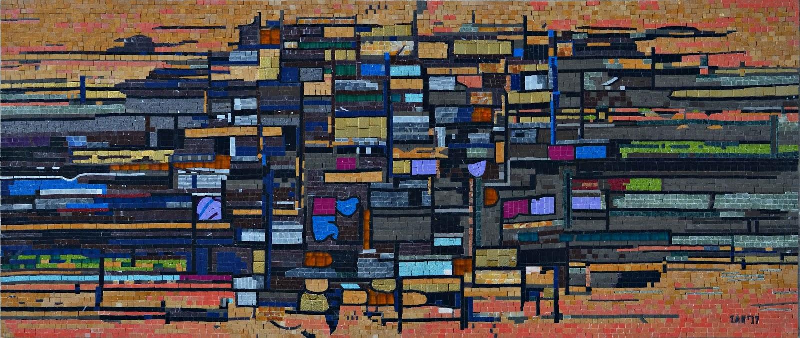 Striking Widows - Abstract Mosaic Artwork by Mozaico
